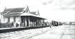 Plataforma de embarque da Estação Sorocabana, década de 1910. (Acervo MIS-I – Museu da Imagem e do Som de Itapetininga).