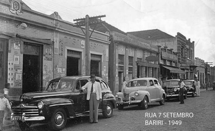 rua 7 de setembro antiga - fonte FB Memorias de Bariri
