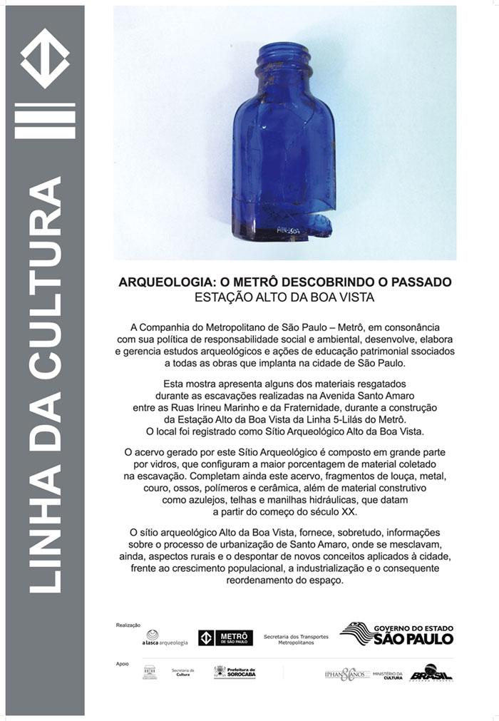 Cartaz-ARQUEOLOGIA - O METRÔ DESCOBRINDO O PASSADO